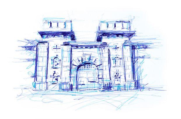 Sketch of a prison