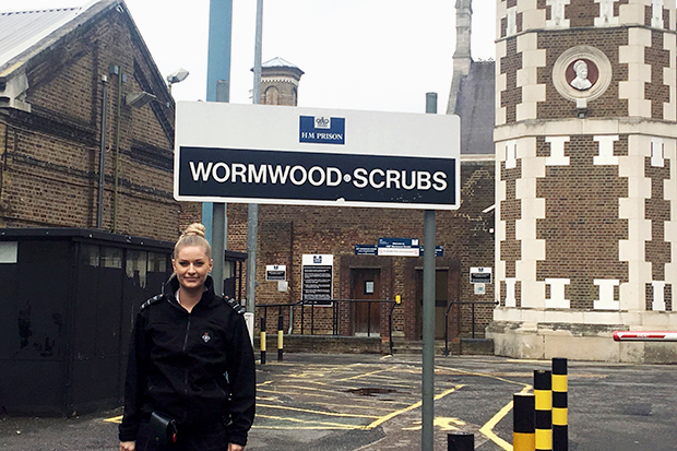 Picture of Officer Bowden standing outside HMP Wormwood Scrubs