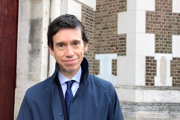 Prisons Minister Rory Stewart outside HMP Wormwood Scrubs