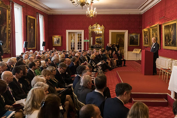 A room with attendees to the Butler Trust Awards Ceremony seated