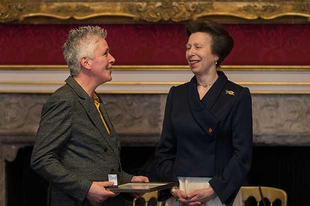 Prison officer Jean Peckham receiving her award from HRH Princess Royal